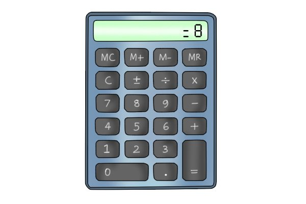 Image showing a calculator, used by a DIYer to decide what the maximum width of dowel peg that they can use is