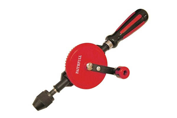 Image of a hand drill to advise DIYer not to drill free hand