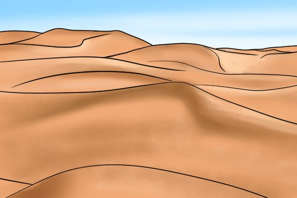 Image of a desert to show that dowels should be stored in a dry place