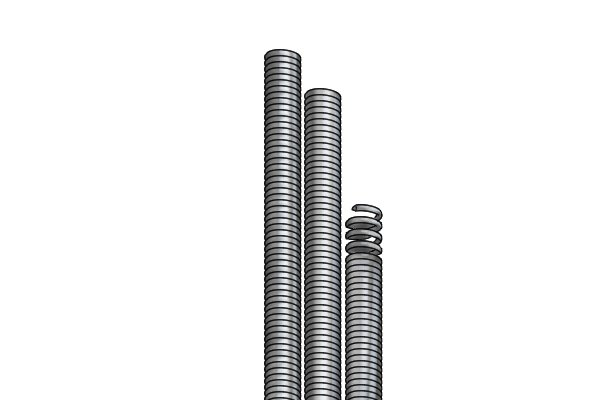 Wonkee Donkee Coiled Spring Drain Rods used to unblock drains and chimneys