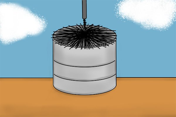Wonkee Donkee Choose the right brush when sweeping a chimney