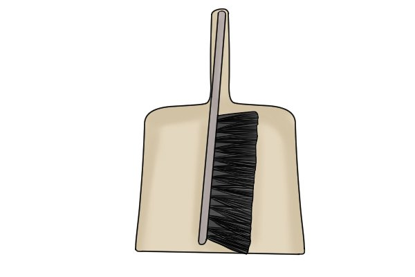 Wonkee Donkee Brush and dustpan being used to clean soot after chimney has been swept
