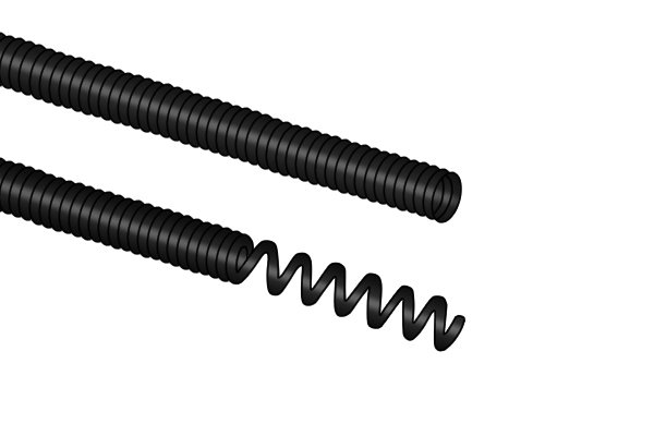 Wonkee Donkee Coiled Spring Leader used to connect drain rod and chimneys rod tools