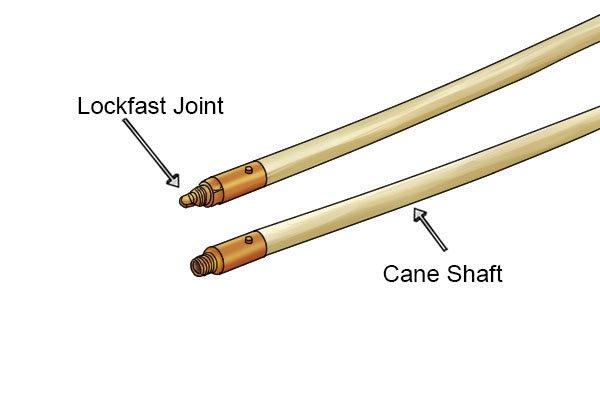 Wonkee Donkee Cane chimney rod for sweeping chimneys