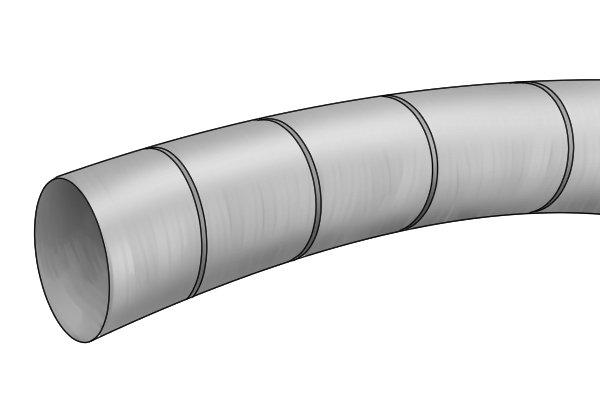 Wonkee Donkee Flexible single walled metallic flue