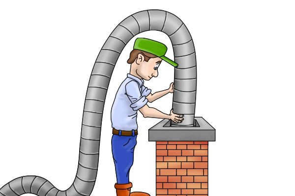 Wonkee Donkee Steel flexible flue will have to be sept with a nylon brush