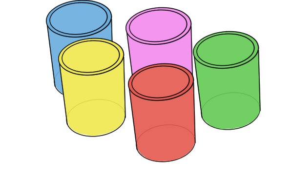 Wonkee Donkee Polypropylene Cups