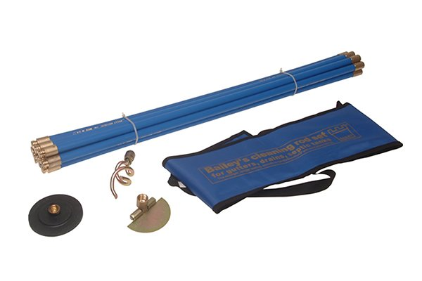 Wonkee Donkee Drain Rod Set with Bag used for sweeping chimneys and rodding drains