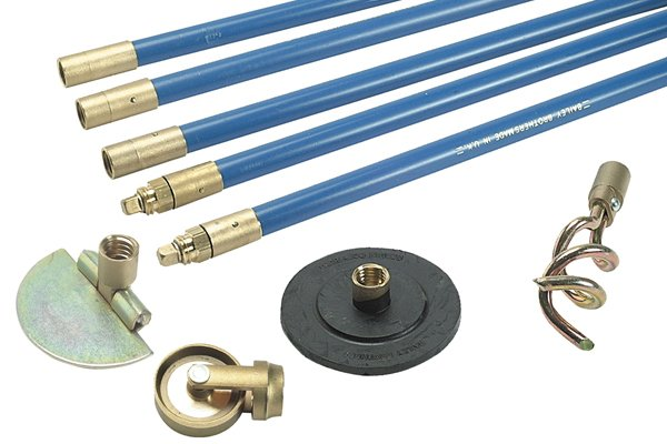Wonkee Donkee Drain Rod Set for rodding drains and sweeping chimneys