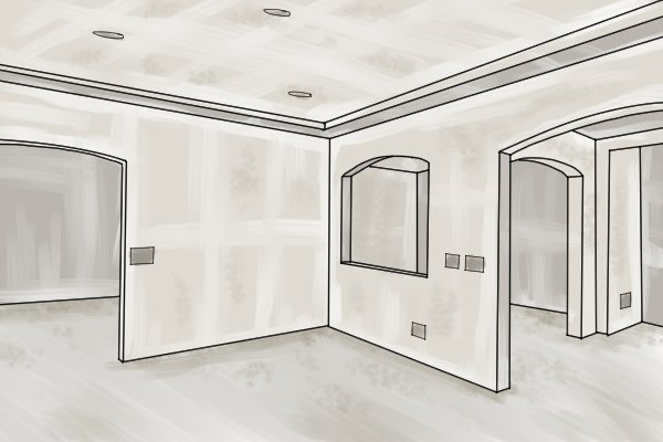drywalled room