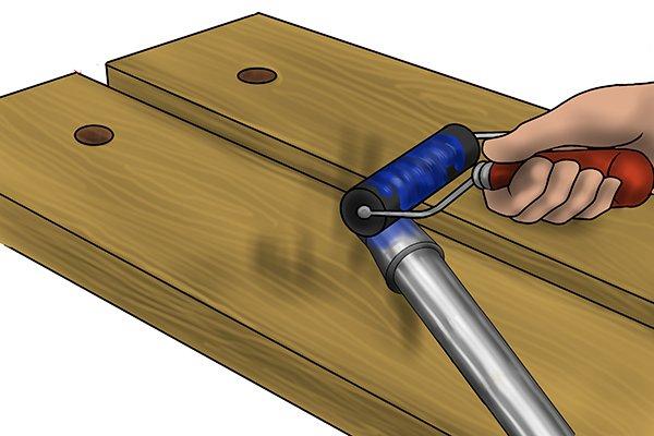Master shaft being inked