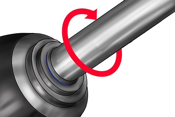 Rotate the shaft in the bearing in the direction it will turn