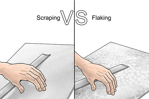 Scraping vs frosting