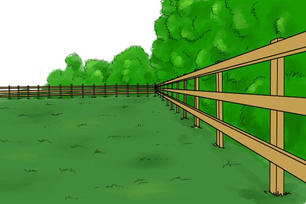 How to put up a fence post