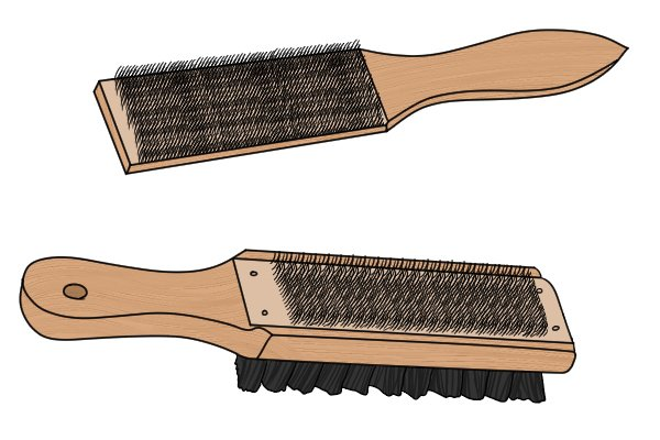 File card brushes, file, cleaning, single sided, double sided, brush, wire, woodwork, metalwork, DIYer.