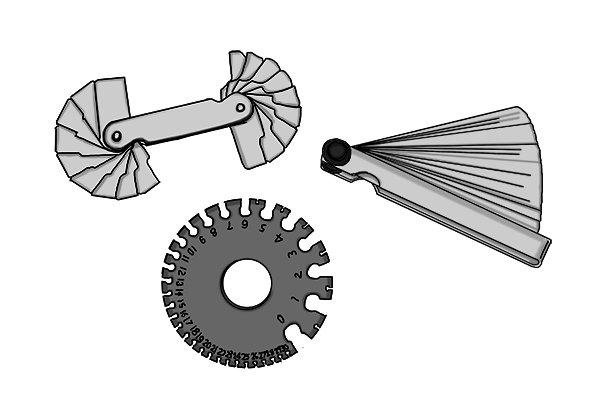 Wonkee Donkee Feeler gauge, radius gauge, wire gauge