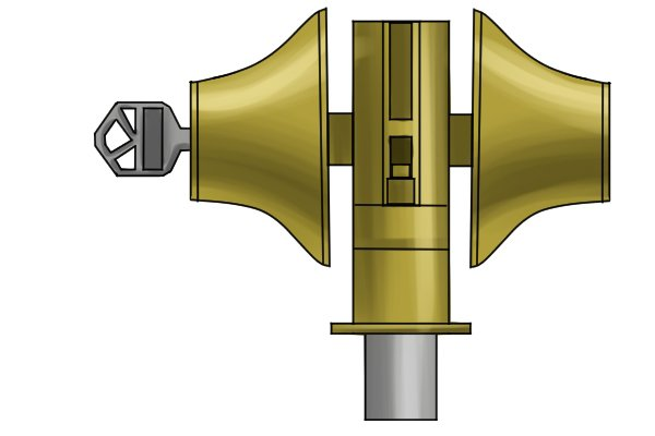 A lock, which relies on smooth movement between carefully filed parts