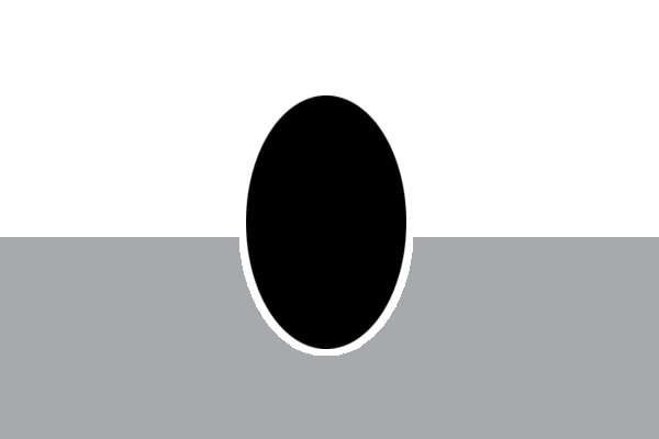 Diagram of an oval file being used end on
