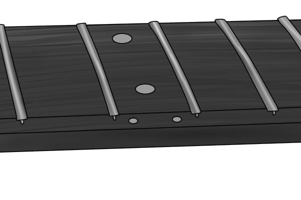 Image to illustrate that frets are convex once shaped by a fret end dressing file