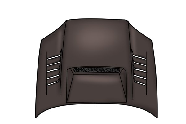 Image of a car bonnet, which would be awkward to file without using a flexible file