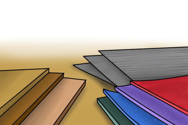 Image of the various materials that a DIYer might find themselves filing