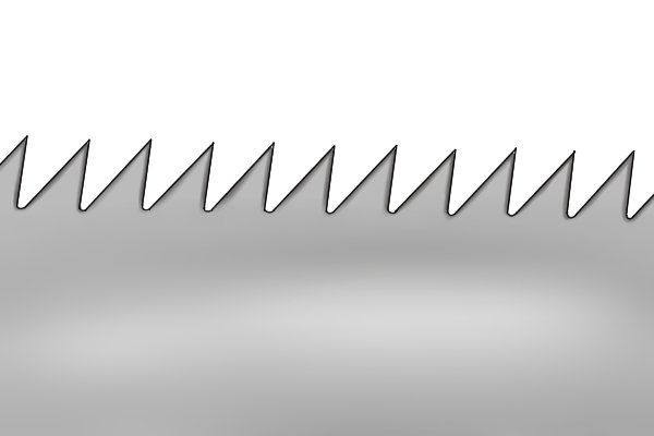 Circular saw blade with wide angled teeth. This can be sharpened with a web saw file.
