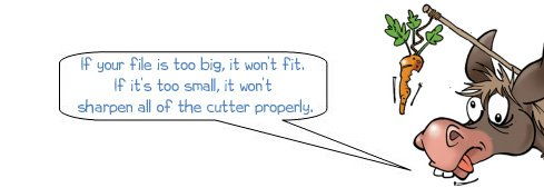 Wonkee Donkee reiterates that the file you choose must be the right size for your chainsaw blades