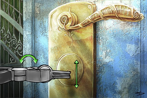 A locksmith turning a key blank inside a lock during the cloning process