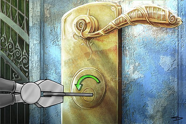 Image to show a locksmith who has successfully created a copy of a key using a pippin file