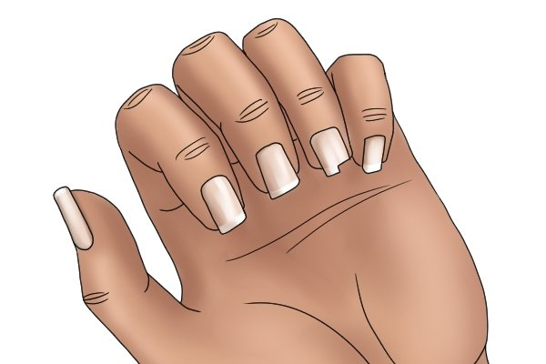 Image to show what can happen if you apply pressure on the draw stroke when you are filing your nails