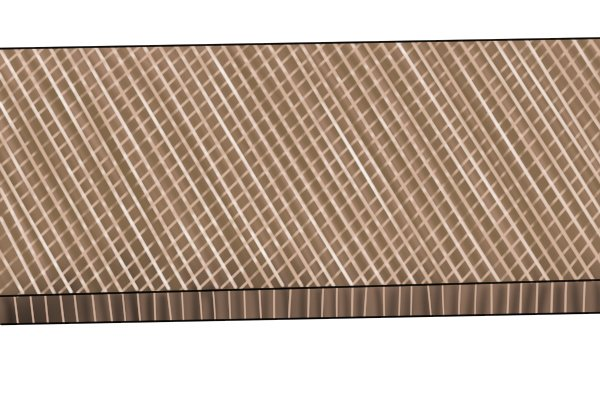A double cut file, which has grooves cut in two directions