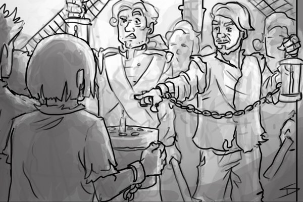 Image of William Blewitt reporting to the governor of a prison ship that the other inmates had baked files and saws into gingerbread cakes