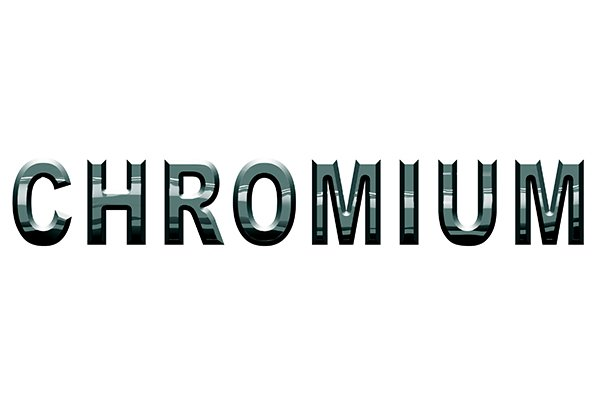 The element chromium which occurs in concentrations of 5 to 7 per cent in chrome-alloy steel