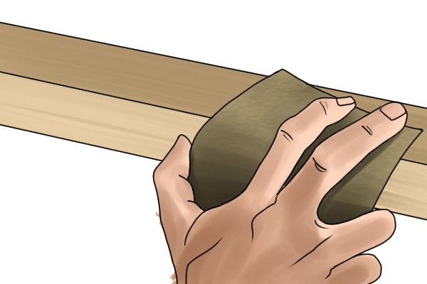 Sandpaper, an abrasive tool that works in the same way as a file