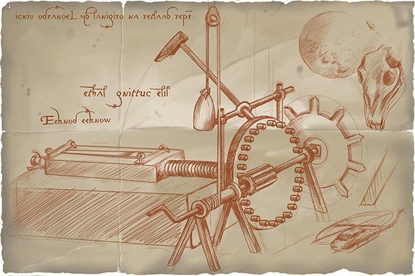 Leonardo da Vinci - responsible for planning the first file making machine