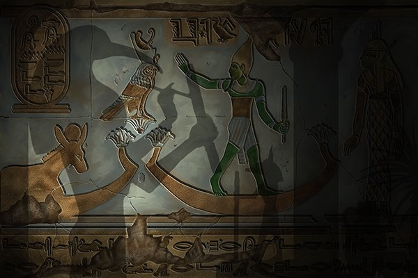 Egyptian pharaoh showing that ancient egyptians used files in 1200-1000 BC