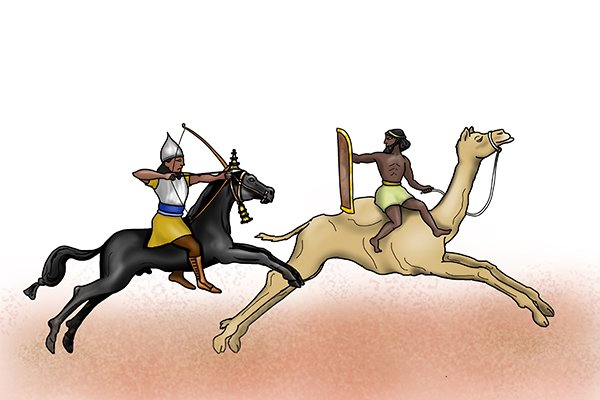 Assyrian horseman to illustrate that Assyrians used metal files from 700 BC