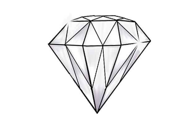 A diamond which has a hardness of 10 on the Moh's scale