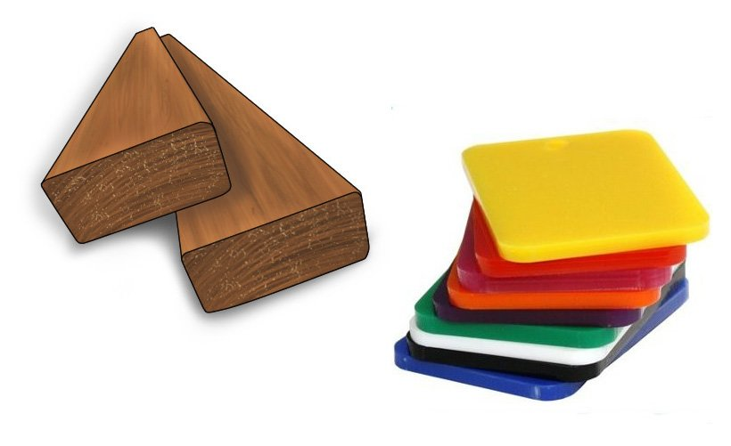 Wood and plastic, two of the softer materials that files have been designed to smooth and shape
