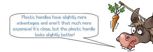 Wonkee Donkee explains why plastic handles are quite often superior to metal handles