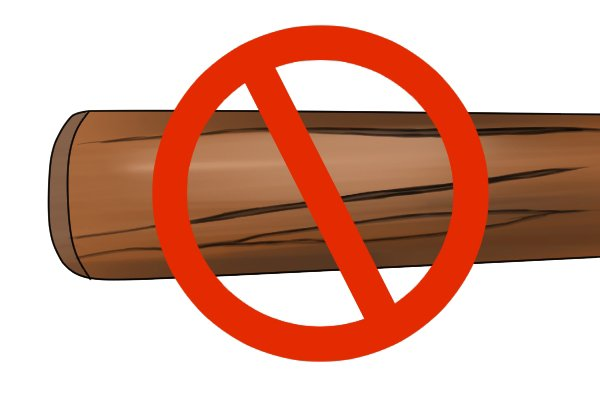 Image to reinforce the idea that a ferrule will prevent a wooden file from cracking