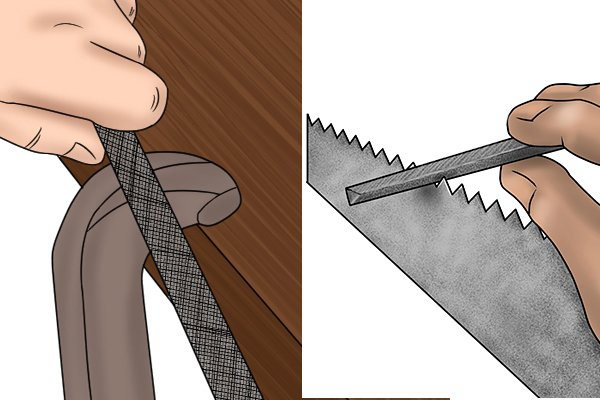 Image to illustrate the difference between the intended purposes of machinists and saw files