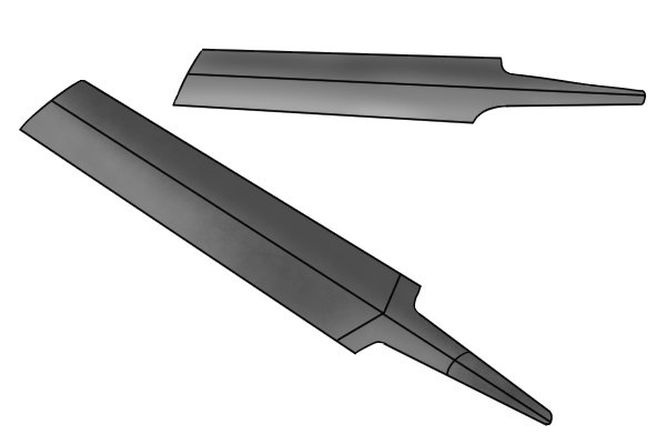 Image of a cross cut file showing cut and outline