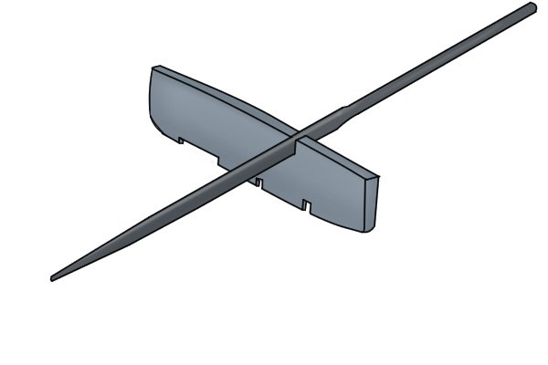 Image of a V-shaped groove being created by a knife file