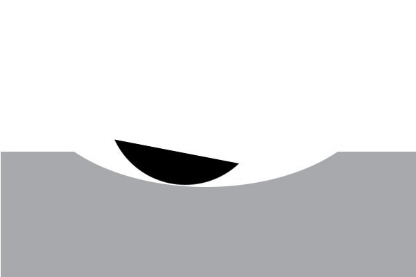 Image of a DIYer using a half round file to create a curved groove
