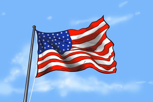 The American flag, representing American pattern files