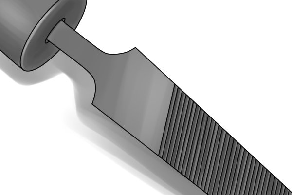 A single cut file with teeth cut in just one direction on the file's face