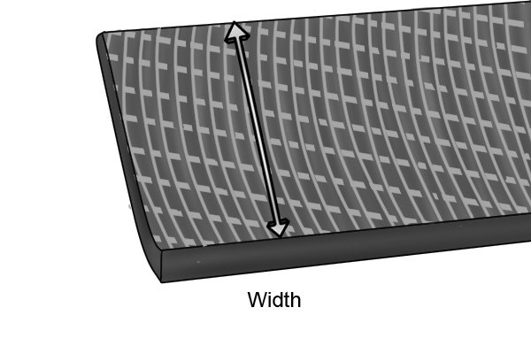 Diagram illustrating how to find a file's width