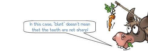 Wonkee Donkee explains what blunt means in the context of describing the outline of a file