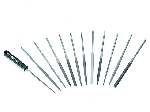 Image showing that there is a wide variety of different types of needle file available